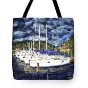 Bvi Sailboats Painting Tote Bag