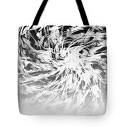 Bw Abstract Spiral Tote Bag