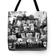 Bw Classic Car Trunk Decor Day Dead  Tote Bag