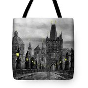 Bw Prague Charles Bridge 04 Tote Bag