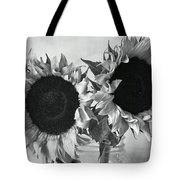Bw Sunflowers #002 Tote Bag