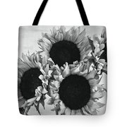 Bw Sunflowers #010 Tote Bag