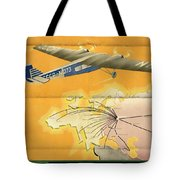 By Air To Ussr With The Soviet Union's Chief Cities - Vintage Poster Folded Tote Bag