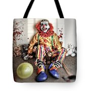 By Blood A King In Heart A Clown Tote Bag