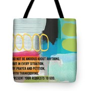 By Prayer And Petition- Contemporary Christian Art By Linda Wood Tote Bag