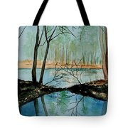By River's Edge Tote Bag