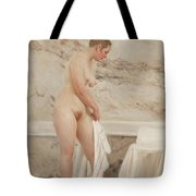 By The Bath Tub Tote Bag