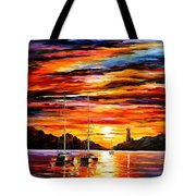 By The Entrance To The Harbor Tote Bag