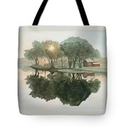 By The Ferry Dock Tote Bag