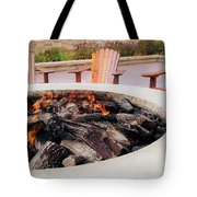 By The Fire Tote Bag