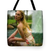 By The Fountain Tote Bag