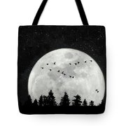 By The Light Of The Silvery Moon - Birds  Tote Bag
