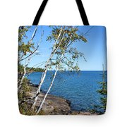 By The Shores Of Gitche Gumee Tote Bag by Kristin Elmquist