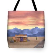 By The Tracks Tote Bag
