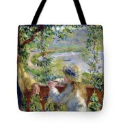 By The Water Near The Lake Tote Bag