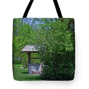 By The Wishing Well-horizontal Tote Bag