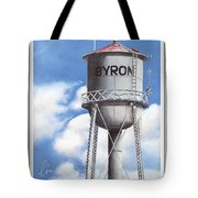 Byron Water Tower Poster Tote Bag