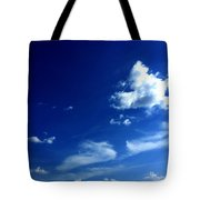 Byzantine Blue Skies With Clouds Tote Bag