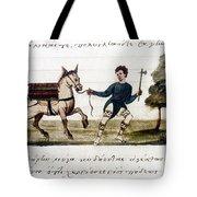 Byzantine Farmer, 15th C Tote Bag