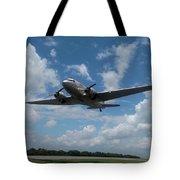 C-47 Dakota Low Pass Over Jekyll Island Airport. 2015 Tote Bag