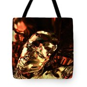 The Thinking Golden Robot Tote Bag