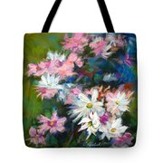 C And D  Cosmos And Daisy That Is Tote Bag