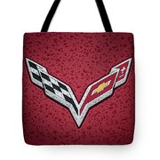 C7 Badge Red Tote Bag