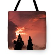Cloud Anamoly Running Man Tote Bag