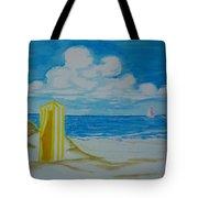 Cabana On The Beach Tote Bag