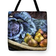 Cabbage And Figs Tote Bag by Sari Sauls