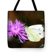 Cabbage Butterflies On Spotted Knapweed Tote Bag