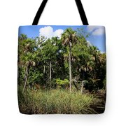 Cabbage Palms Along The Cotee River Tote Bag