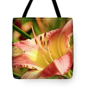 Cabbage White Butterfly On Day Lily Tote Bag