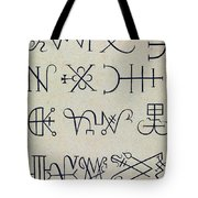 Cabbalistic Signs And Sigils, 18th Tote Bag