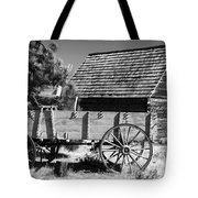 Cabin And Wagon Tote Bag