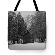 Cabin Between The Cedars Tote Bag