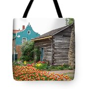 Cabin By The Tulips Tote Bag