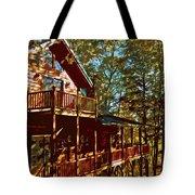 Cabin Cutout Tote Bag