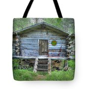 Cabin In Lapland Forest Tote Bag