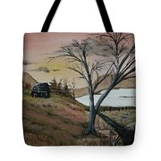 Cabin In The Fall Tote Bag