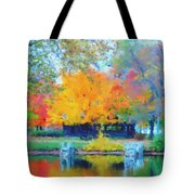 Cabin In The Park II Tote Bag