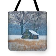 Cabin In The Snow - Valley Forge Tote Bag