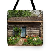 Cabin In The Tulip Patch Tote Bag
