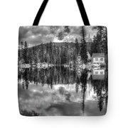 Cabin Reflection Tote Bag