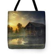Cabin Sunrise Tote Bag