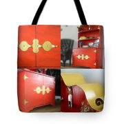Cabinet And Shelves - Red Nonconformist Tote Bag