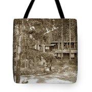 Cabins At Carmel Highlands Inn Circa 1930 Tote Bag