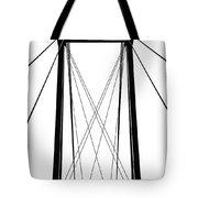 Cable Bridge Abstract Tote Bag