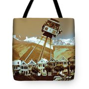 Cable Car Fly - San Francisco Collage Tote Bag