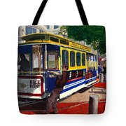 Cable Car Turntable At Powell And Market Sts. Tote Bag